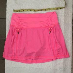 Lululemon Neon Pink Skort 6